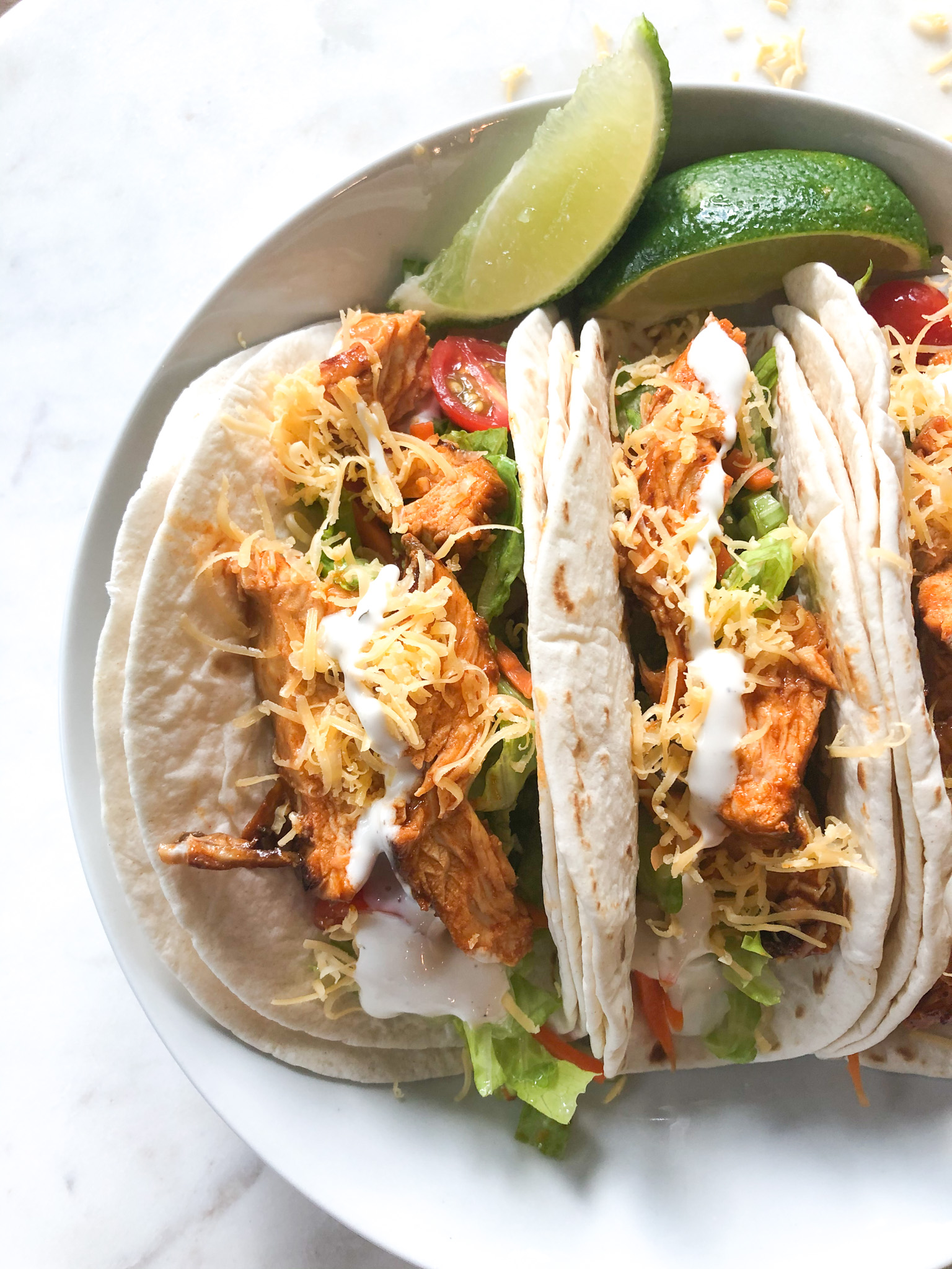 The Best Healthy Buffalo Chicken Tacos